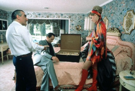 Martin Scorsese, Robert De Nero and Sharon Stone on the set of Casino