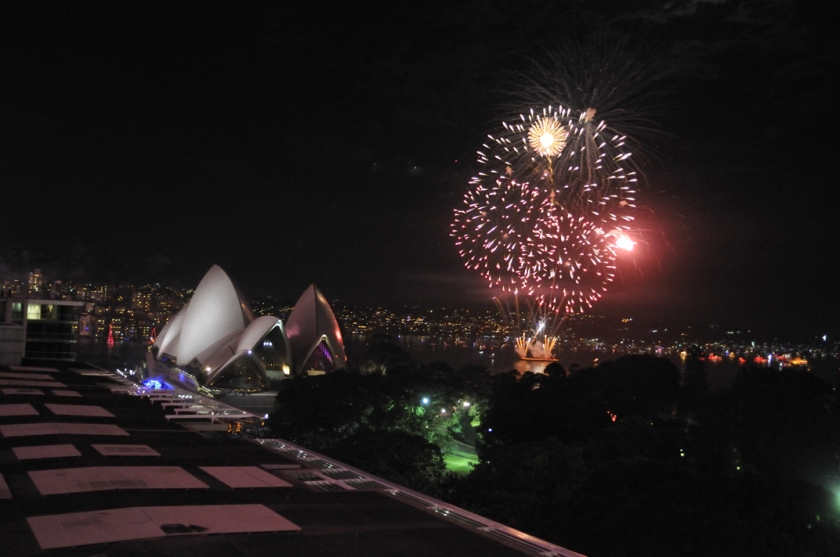 The Sydney Opera House and Farm Cove