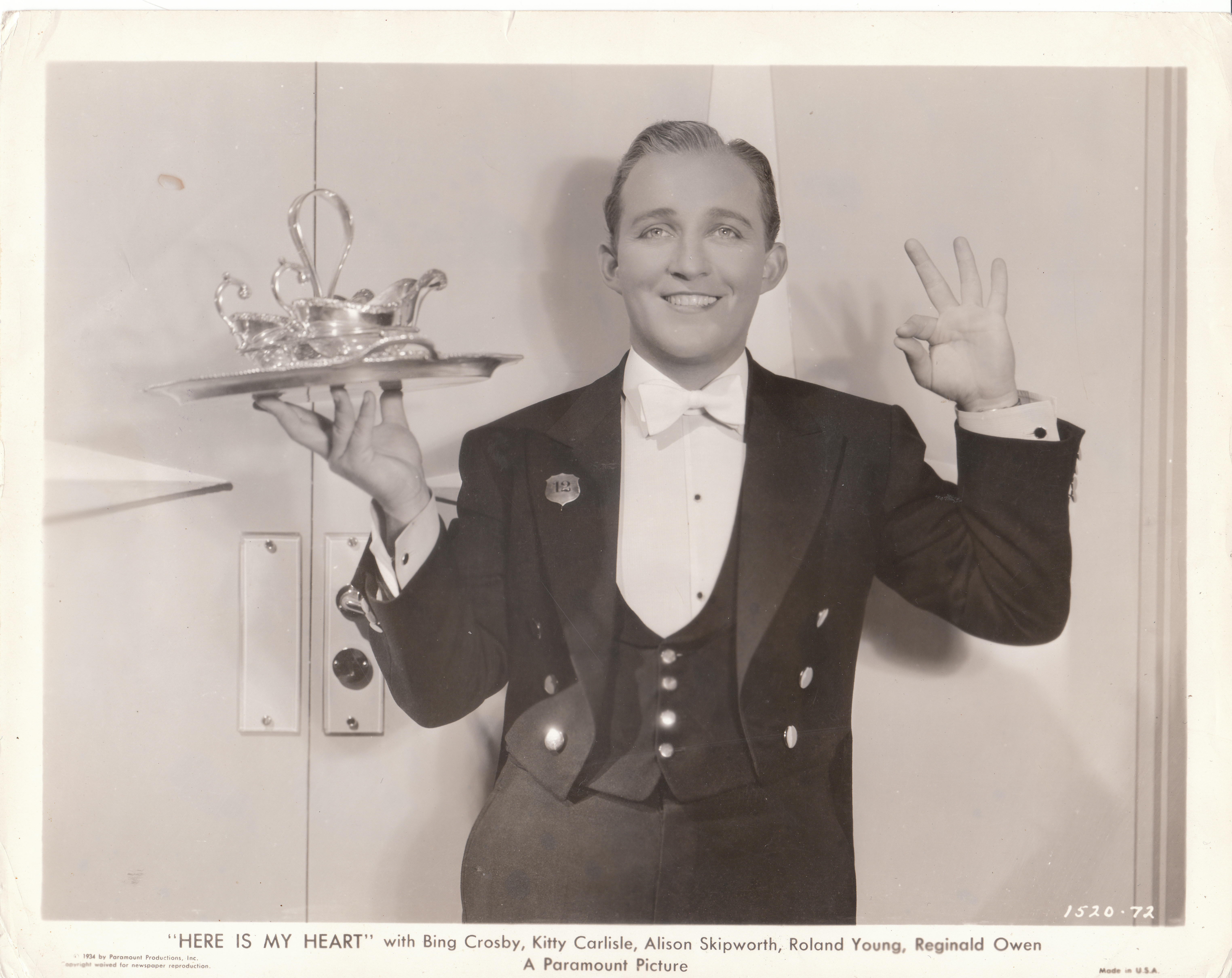 Bing Crosby in Here Is My Heart (1934)
