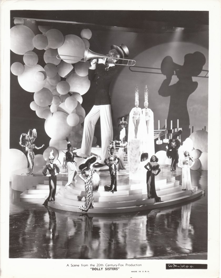 An elaborate soundstage fantasy in The Dolly Sisters (1945)