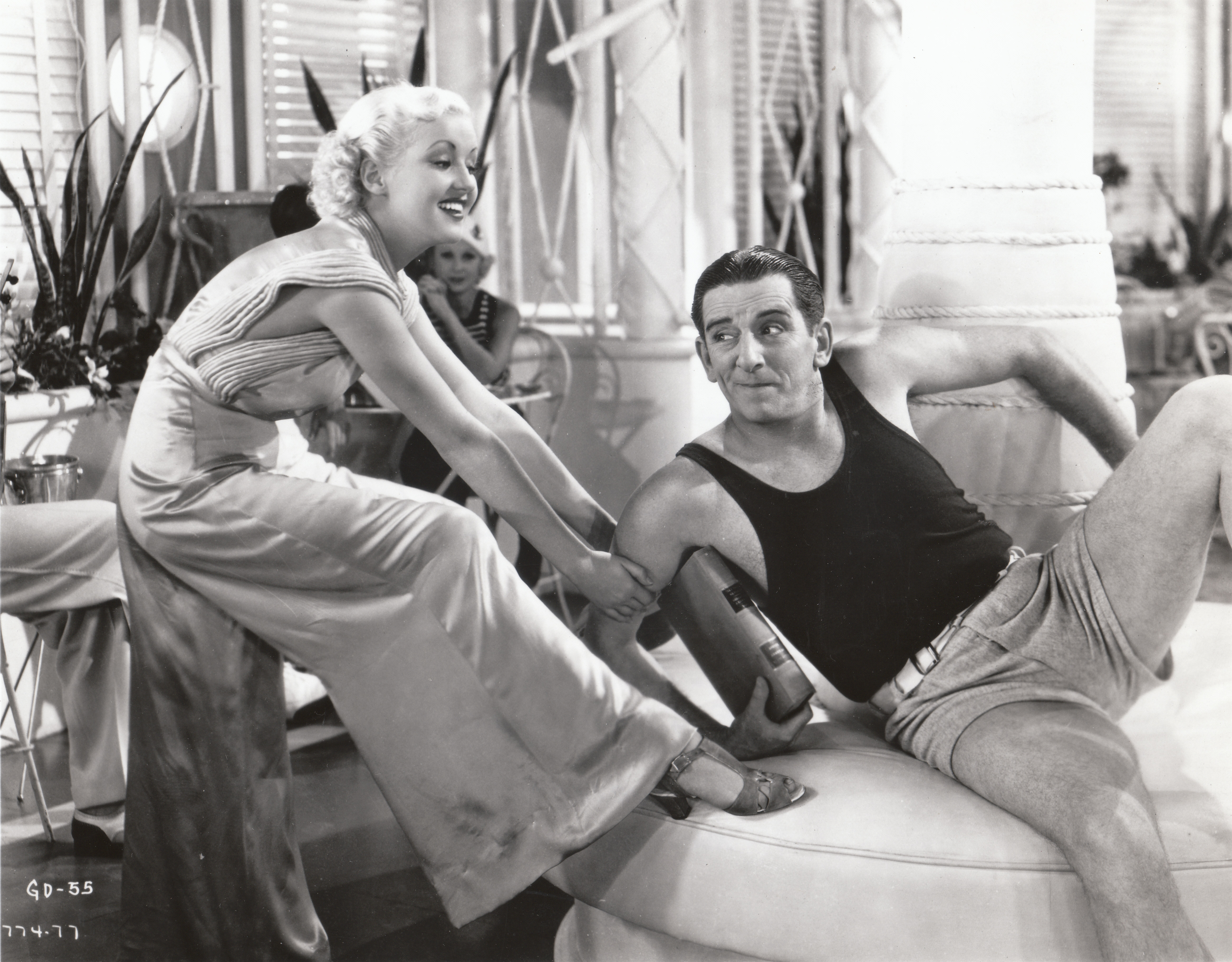 Betty Grable and Edward Everett Horton in The Gay Divorcee (1934)