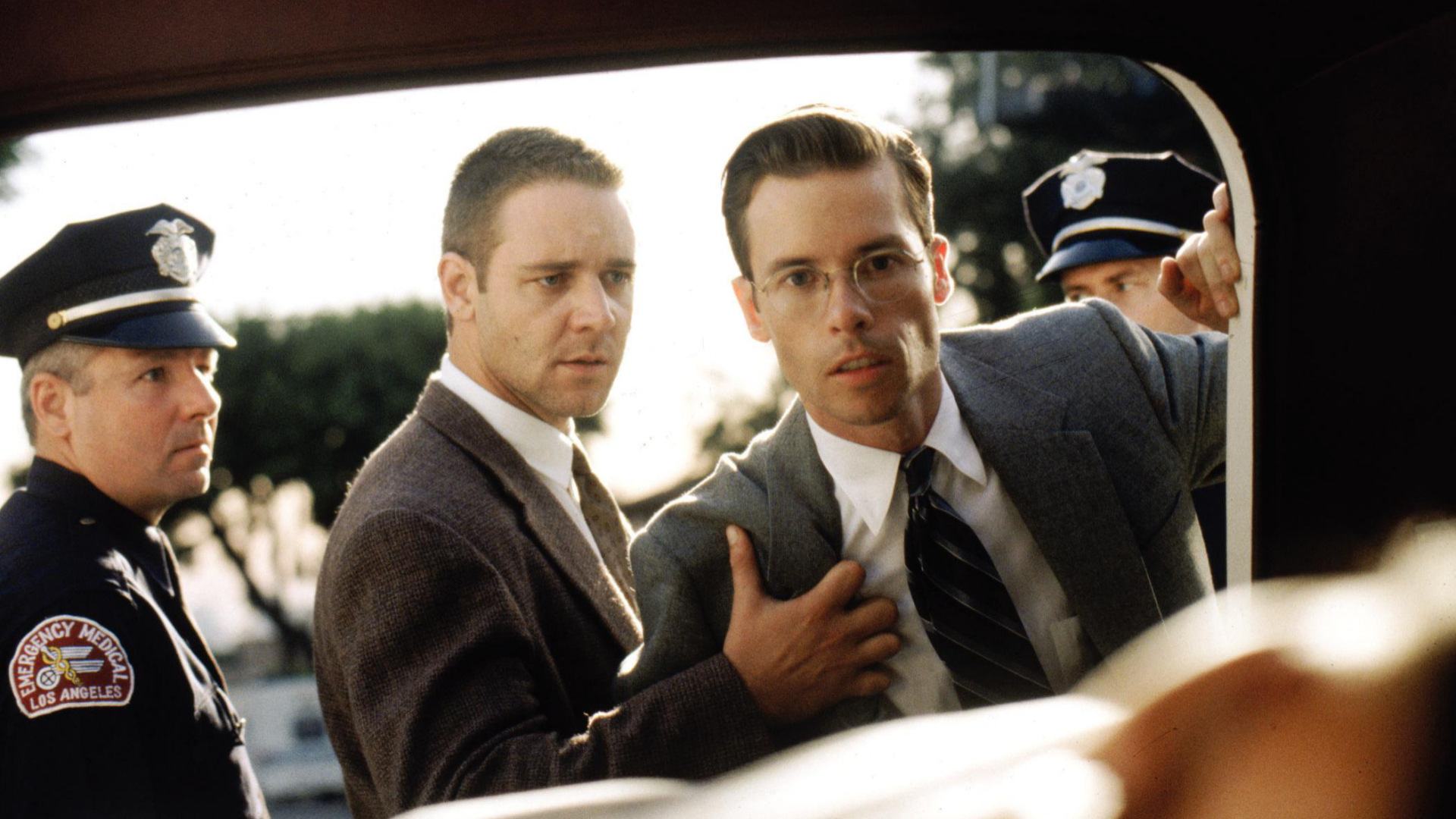 Russel Crowe (left) and Guy Pierce (centre) in LA Confidential